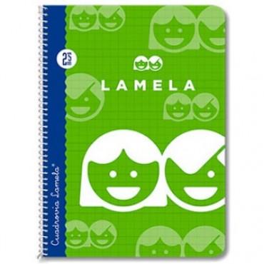 Cuaderno Espiral Lamela Tamaño Cuarto cuadrovía 2.5mm 40 hojas Tapa Blanda 07002