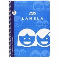 Cuaderno Espiral Lamela Tamaño Cuarto cuadrovia  3mm 40 hojas Tapa Blanda 07003