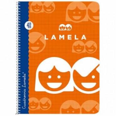 Cuaderno Espiral Lamela Tamaño Cuarto cuadrovía 4mm 40 hojas Tapa Blanda 07004