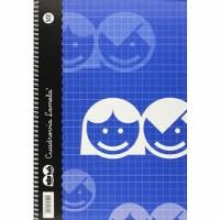Cuaderno Espiral Lamela Tamaño Folio cuadrovía 5mm 80 hojas Tapa Blanda 07F005