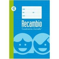 Recambio Lamela Tamaño Folio Cuadrovia 4mm 100 Hojas 09004