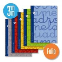 Cuaderno Espiral Lamela Tamaño Folio Cuadrovía 3mm 80 hojas Tapa Dura 7FTE003