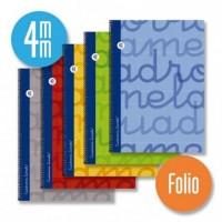 Cuaderno Espiral Lamela Tamaño Folio Cuadrovia 4mm 80 Hojas Tapa Dura 7FTE004