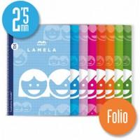 Cuaderno Espiral Lamela Tamaño Folio cuadrovía 2.5mm 80 hojas Tapa Blanda 07F002