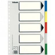 Separador Grafoplas plastico juego de 5 separadores Folio con 5 colores multitaladro