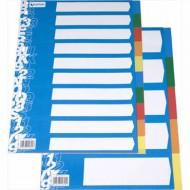 Separador Grafoplas plastico juego de 10 separadores folio con 5 colores multitaladro
