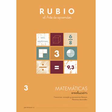 Cuaderno Matemáticas 3 Rubio Evolución