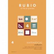 Cuaderno Matemáticas 4 Rubio Evolución