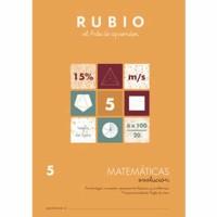 Cuaderno Matemáticas 5 Rubio Evolución