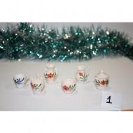Conjunto 6 unidades cerámica 3 cm