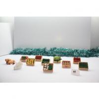 Conjunto de 9 cajas frutas y verduras Mercado