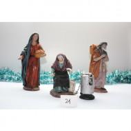 Conjunto de 3 figuras Castañera y 2 Pastores