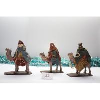 Reyes Magos en camello 14 cm