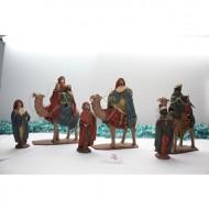 Reyes Magos a camello con pajes 22 cm