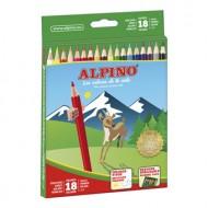 Lapices de colores alpino 656 caja de 18 colores largos