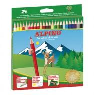 Lapices de colores alpino 24 colores largos