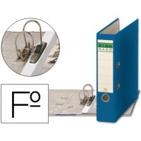 Archivador de palanca elba carton forrado folio azul -lomo de 80 mm -rado chic