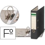 Archivador de palanca elba carton forrado folio negro -lomo de 80 mm -rado chic