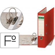 Archivador de palanca elba carton forrado folio rojo -lomo de 80 mm -rado chic