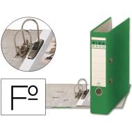Archivador de palanca elba carton forrado folio verde -lomo de 80 mm -rado chic