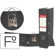 Archivador de palanca esselte plastico folio negro
