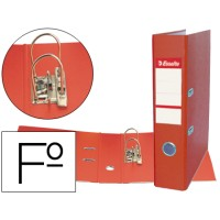 Archivador de palanca esselte plastico folio rojo