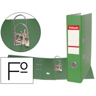 Archivador de palanca esselte plastico folio verde