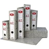 Archivador AZ de palanca folio jaspeado gris
