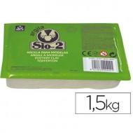 Arcilla sio-2 blanca paquete de 1.5 kg.