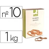 Bandas elasticas q-connect 1000 gr 100 x 9 mm numero 10