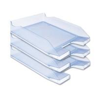 Bandeja sobremesa plastico q-connect azul claro transparente
