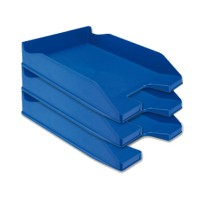 Bandeja sobremesa plastico q-connect azul opaco