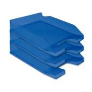 Bandeja sobremesa plastico q-connect azul transparente