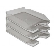 Bandeja sobremesa plastico q-connect gris oscuro transparente