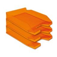 Bandeja sobremesa plastico q-connect naranja transparente