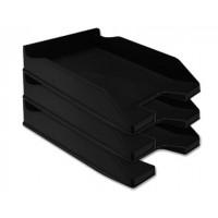 Bandeja sobremesa plastico q-connect negro opaco