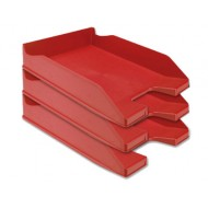 Bandeja sobremesa plastico q-connect rojo opaco