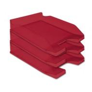 Bandeja sobremesa plastico q-connect rojo transparente