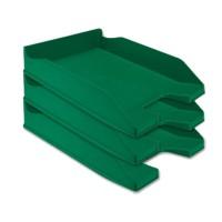 Bandeja sobremesa plastico q-connect verde opaco