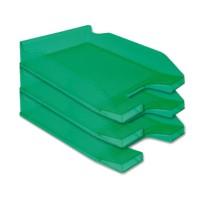 Bandeja sobremesa plastico q-connect verde transparente