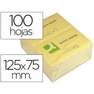 Bloc de notas adhesivas quita y pon q-connect 75x125 mm con 100 hojas