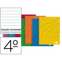 Bloc espiral liderpapel cuarto write tapa cartoncillo 80h 60g horizontal con margen. Colores surtidos