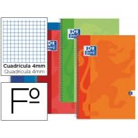 Bloc espiral oxford tapa extradura folio 80 hojas cuadros 4 mm