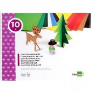 Bloc trabajos manuales liderpapel carton ondulado 240x315mm 10 hojas colores surtidos