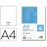 Bloc notas liderpapel liso a4 80 hojas 60g/m2