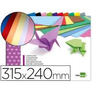 Bloc trabajos manuales liderpapel cartulina 240x315mm 10 hojas colores surtidos