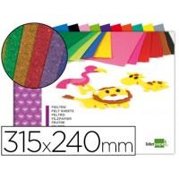 Bloc trabajos manuales liderpapel fieltro 240x315mm 10 hojas colores surtidos