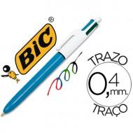 Boligrafo bic cuatro colores.