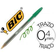 Boligrafo bic cristal verde -unidad