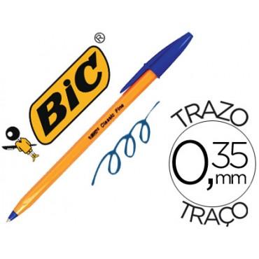 Boligrafo bic naranja azul